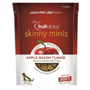 Fruitables Skinny Minis Soft Chew Dog Treat, Apple Bacon Flavor