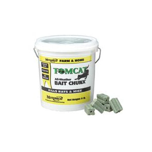 Tomcat All Weather Bait Chunx Rat And Mouse Killer, 9 Lb.
