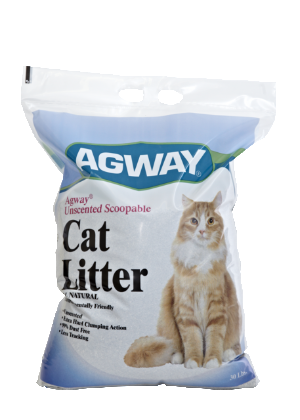 Agway Unscented Scoopable Cat Litter All Natural 30 Lb.