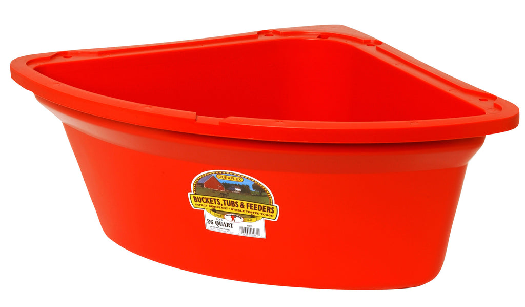LITTLE GIANT DURAFLEX CORNER FEEDER  26 QT