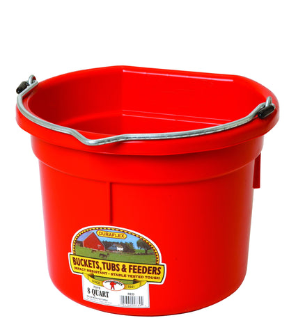 Flat Back Plastic Bucket 8 Quart