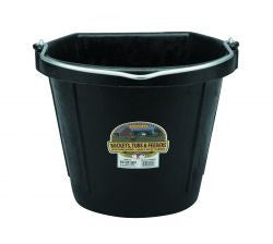 LITTLE GIANT DURAFLEX FLAT BACK RUBBER BUCKET BLACK 20 QT