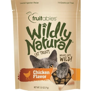 Fruitables Wildly Natural Cat Treats Chicken Flavor