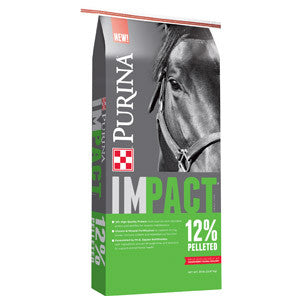 Purina® Impact® 12% Pelleted Horse Feed