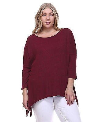 bc68c727cad Plus Size Ribbed Knit Piko Top with Slit Sides – ShopTzia