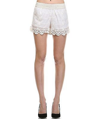 Orange Creek Women's Crochet Edged Detail Ivory...