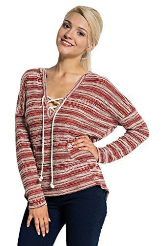 Orange Creek Women's Knit Hooded Long Sleeve...