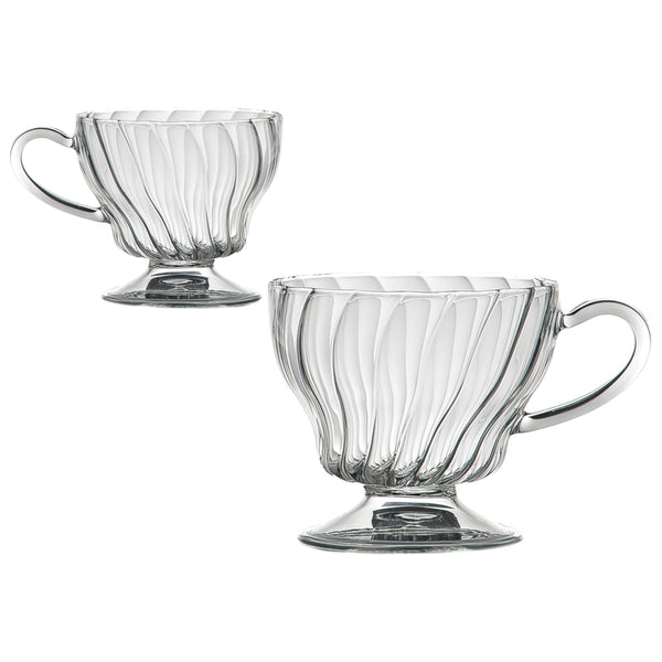 ARABESQUE WIDE Teacup Clear (set of 2)