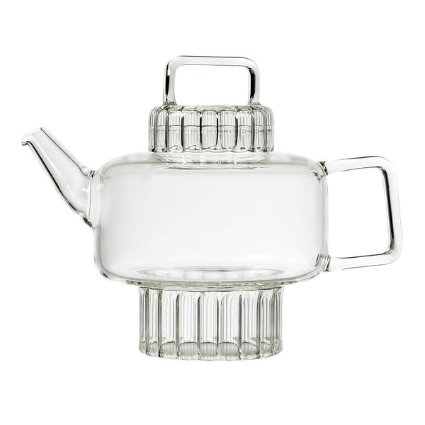 Ara  teapot on white background
