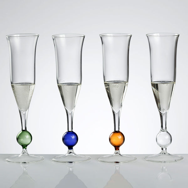 BUBBLE Champagne Flute (set of 4)