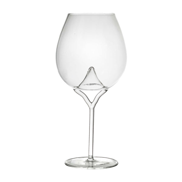 Luna red wine glass on white background