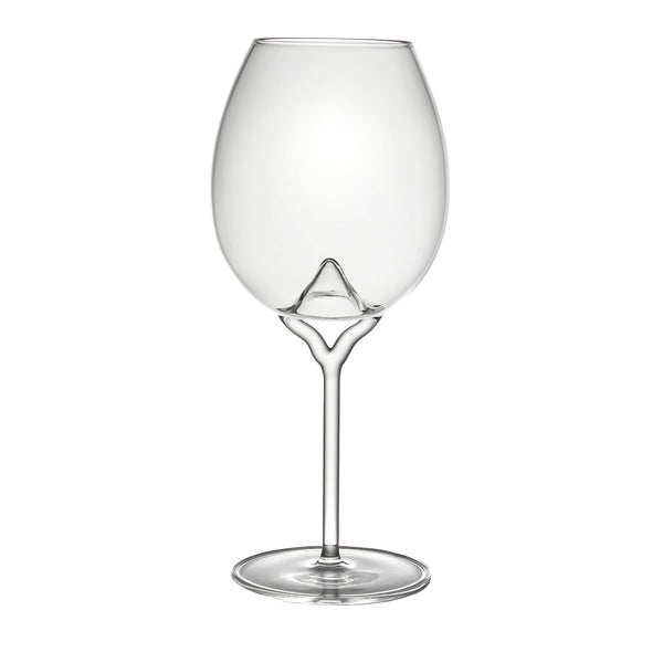 Luna white wine glass on white background