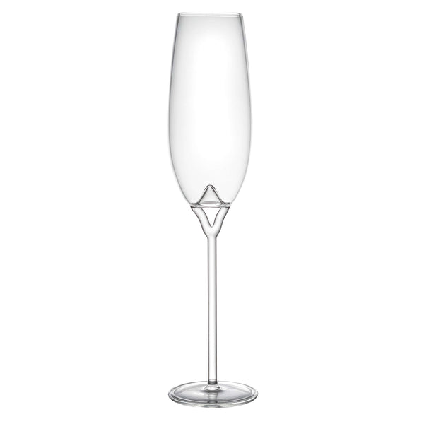 Luna champagne flute on white background