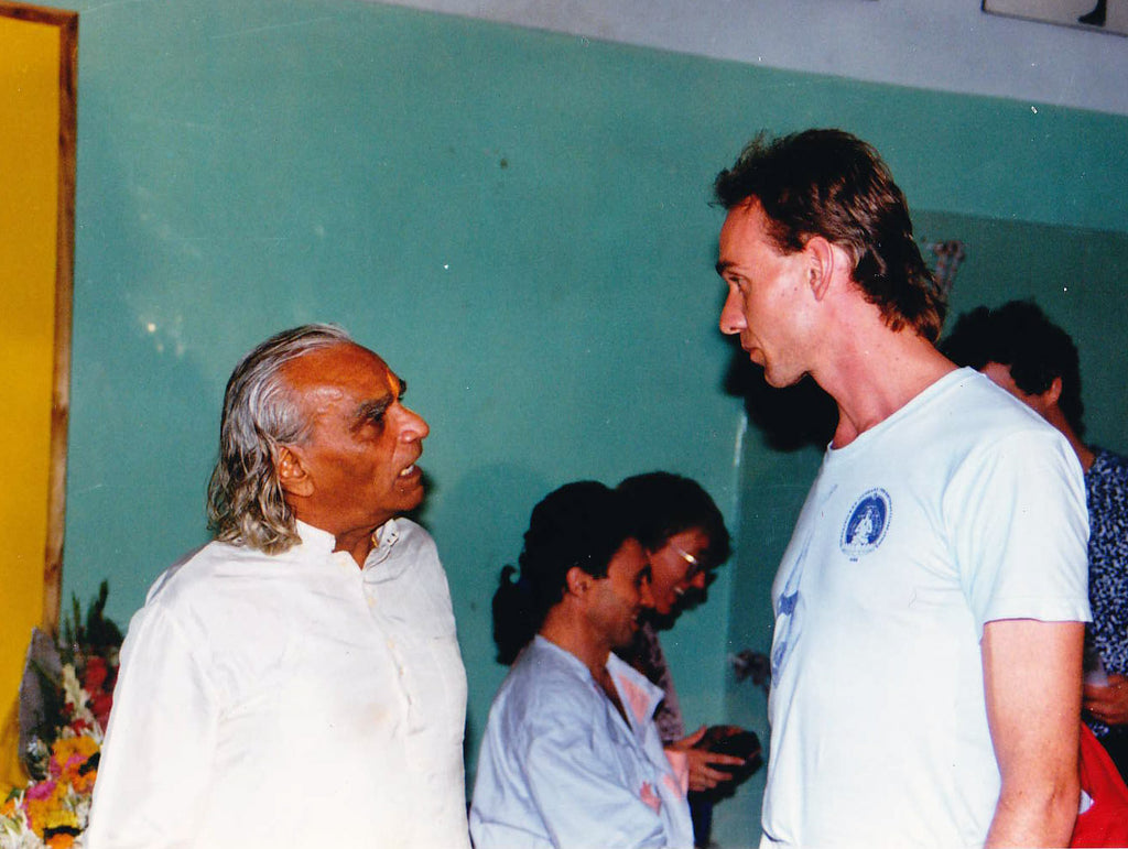 BKS Iyengar with Claus Grzesch of Kurma Yoga