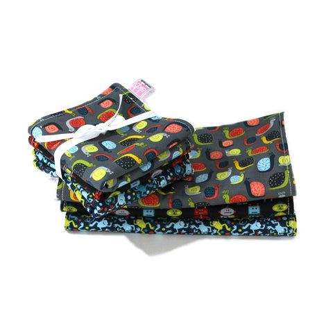 Burp Cloth/Wash Cloth Set - Snails and More