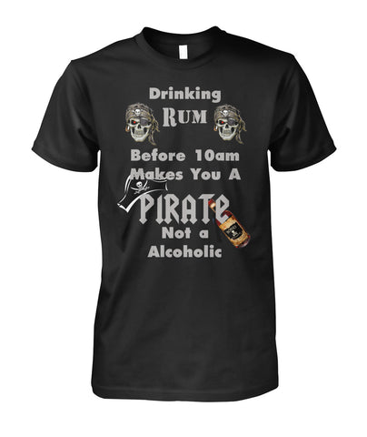 Drinking Rum Unisex Cotton Tee #671100