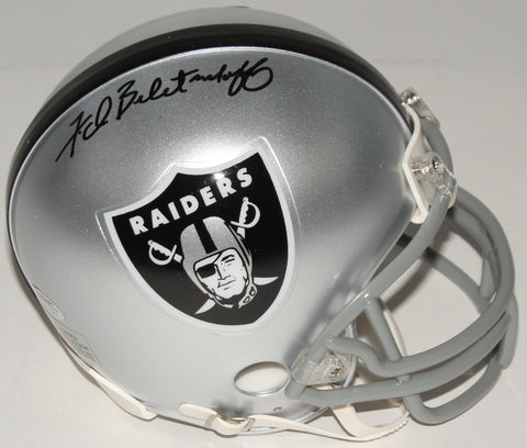 Fred Biletnikoff Signed Raiders Mini Helmet (Schwartz COA)