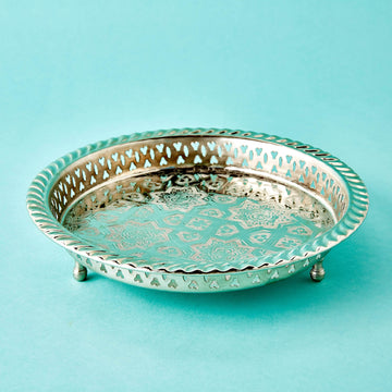 Round Silver Tray - Small