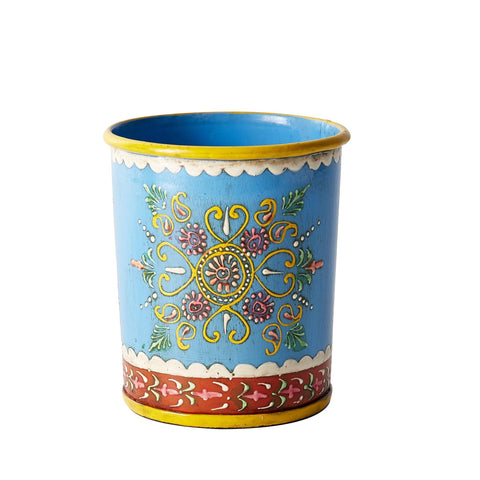 Henna Painted Herb Pot