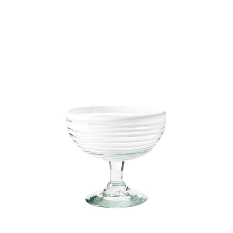 Coupe Cocktail Glass - White Stripe