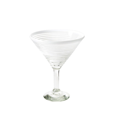 Extra Large Martini Glass - White Stripe
