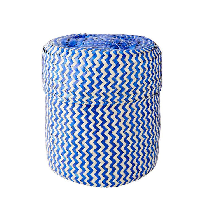Small Tigre Handwoven Basket - Blue