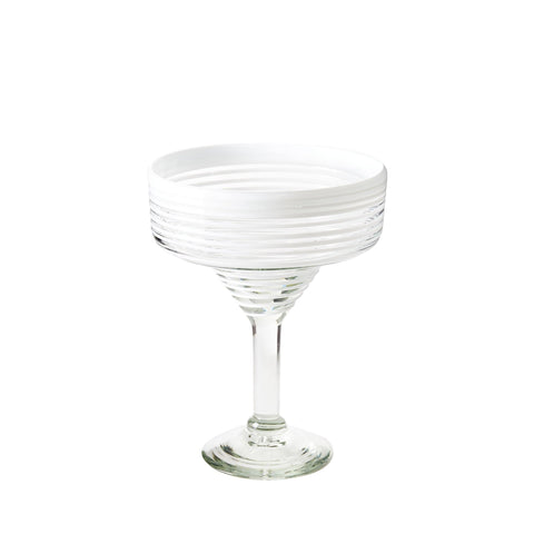 Margarita Glass - White Stripe