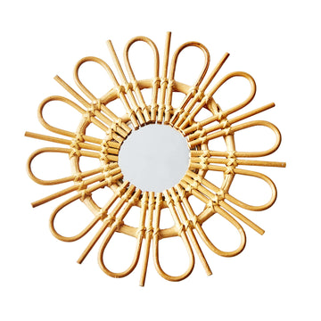 Loop Sunburst Rattan Mirror - Small