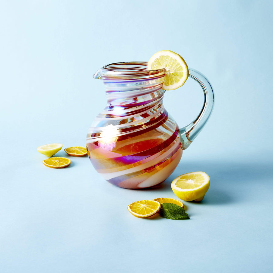 Iced Tea Pitcher - Tropical Swirl