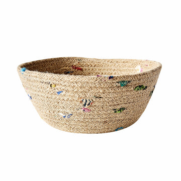 Jute & Recycled Sari Bread Basket