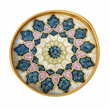 Medieval Reverse Painted Tray - Julian