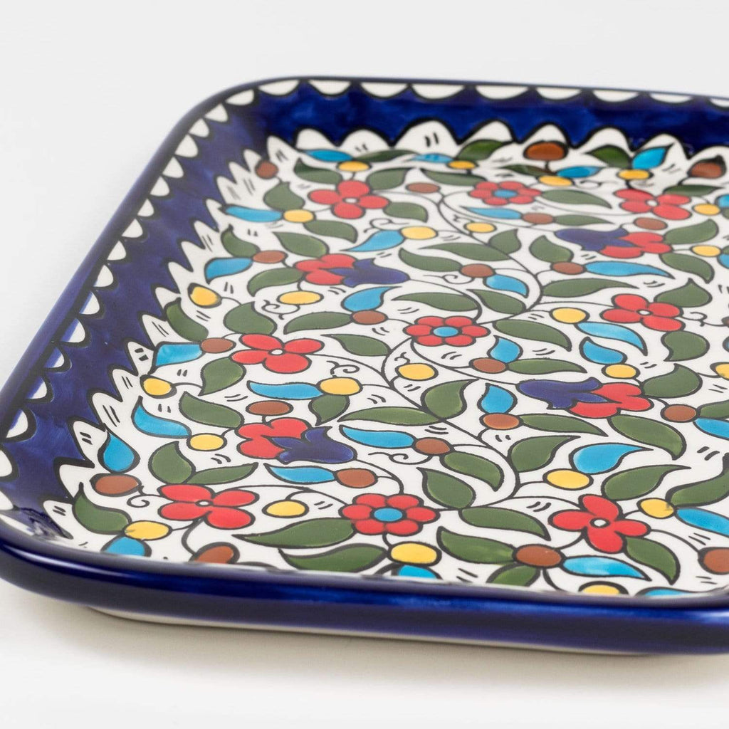Serving Platter - Multicolor Daisies