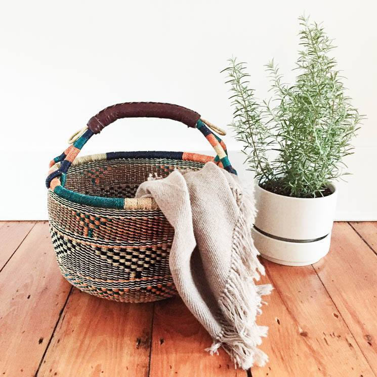 Handwoven Large Basket - Assorted Natural