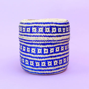 Amapola Handwoven Basket - Blue
