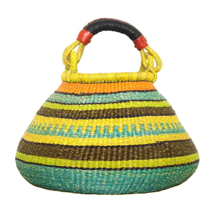 Handwoven Teardrop Basket - Assorted Green