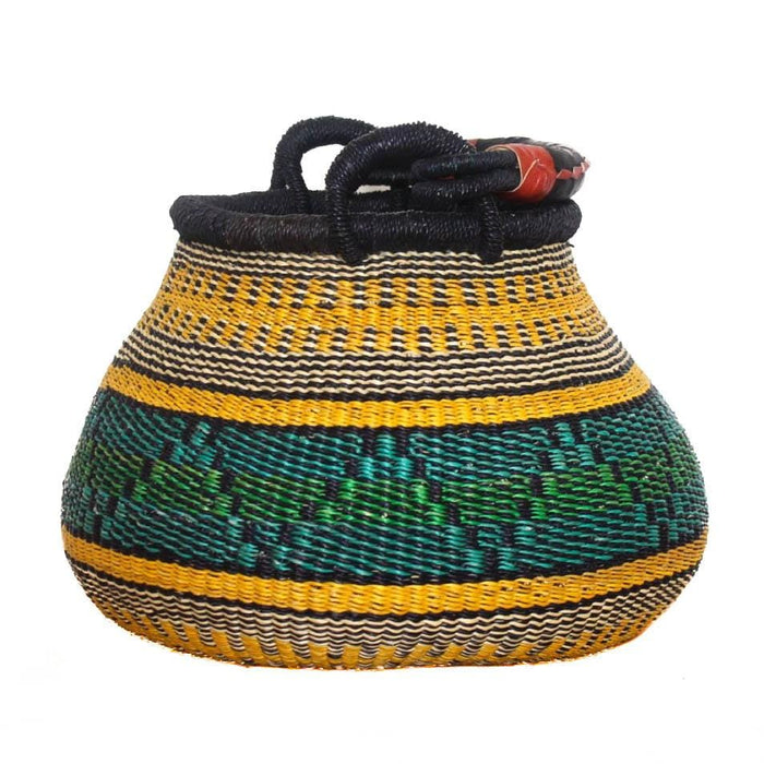 Handwoven Teardrop Basket - Assorted Rainbow
