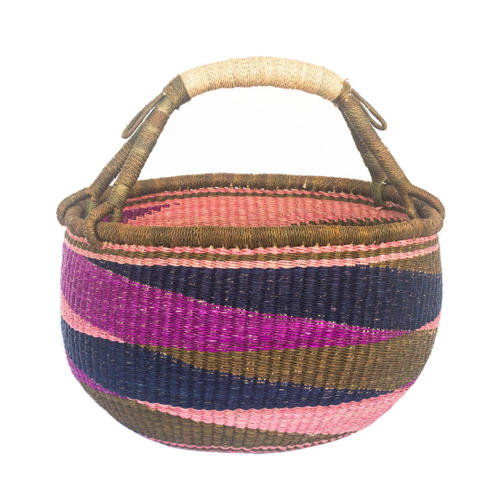 Handwoven Large Basket - Assorted Purple