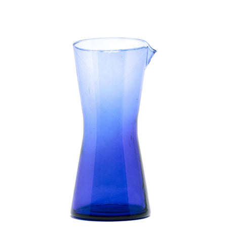 Handless Glass Carafe - Blue