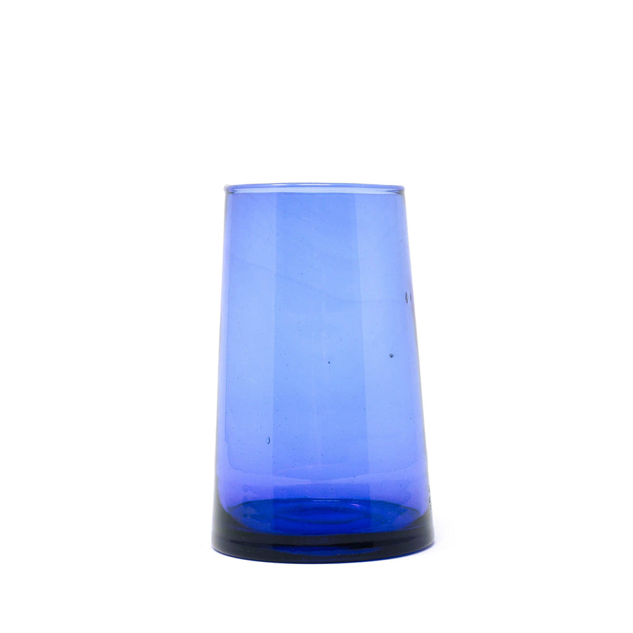 Tall Flared Drinking Glass - Blue