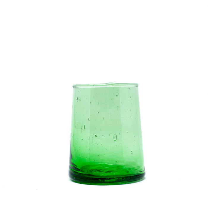 Short Flared Drinking Glass - Green