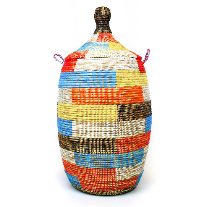 Extra Large Lidded Basket - Colorblock