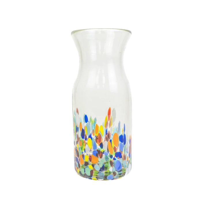 Handblown Handless Glass Pitcher/Vase - Colorful