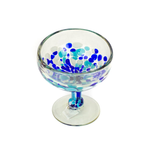 Coupe Cocktail Glass - Blue Dot