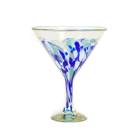 Extra Large Martini Glass - Blue Dot