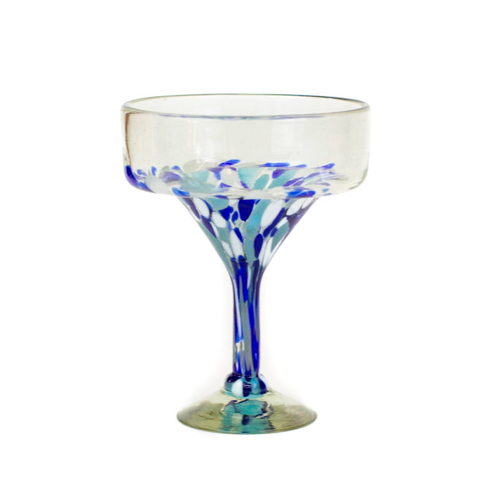 Margarita Glass - Blue Dot
