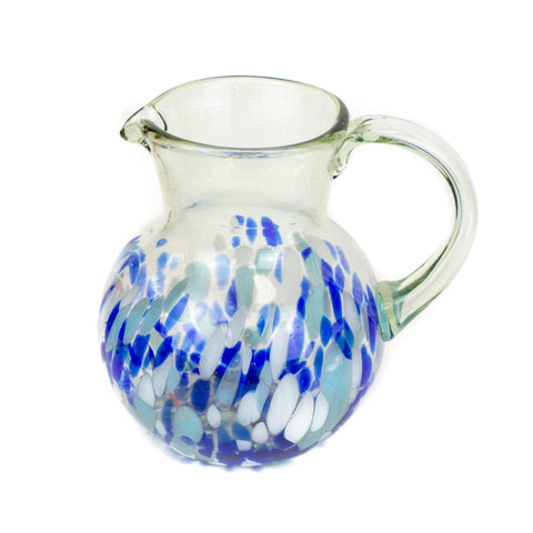 Large Iced Tea Pitcher - Blue Dot