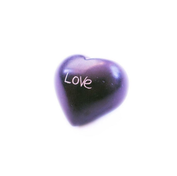 Soapstone Heart - Purple Love