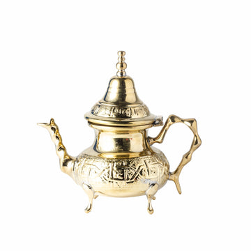 Golden Hammered Teapot - Small