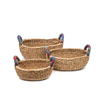 Chindi Handle Bread Baskets - Set of 3