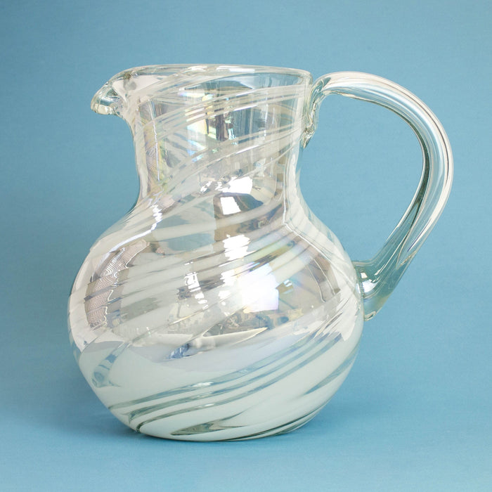 Large Iced Tea Pitcher - Iridescent Swirl